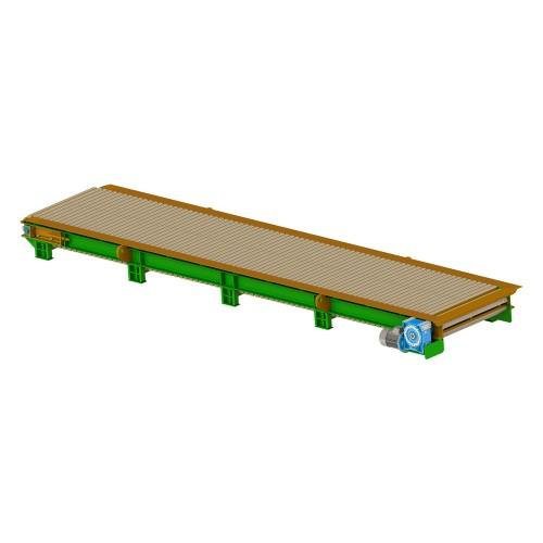 Conveyor for big bags, 6 m (plate conveyor)